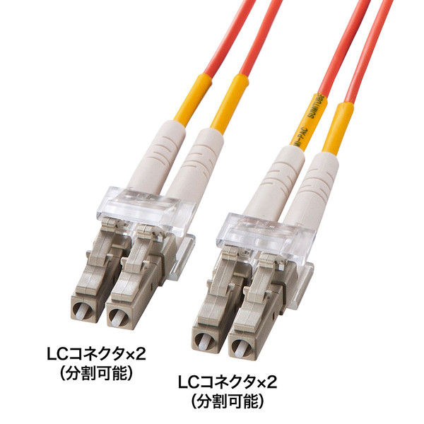 サンワサプライ 光ファイバケーブル HKB-LCLC6-20L 1個 (直送品)