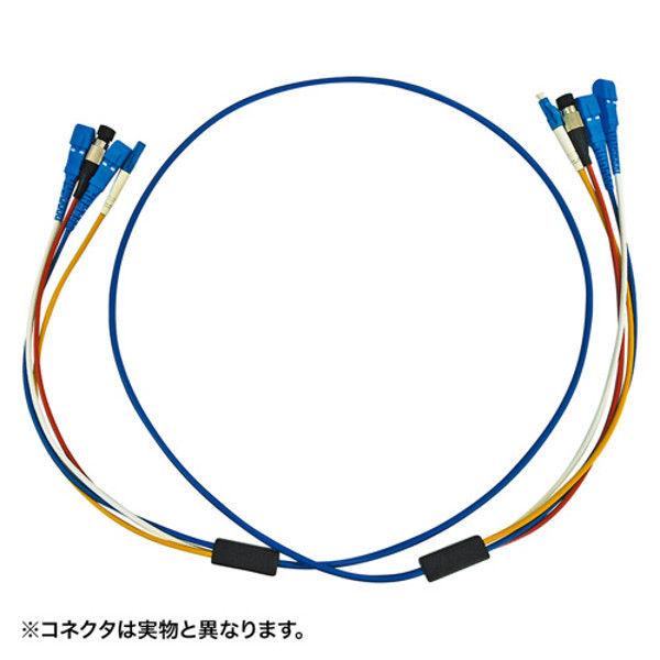 サンワサプライ ロバスト光ファイバケーブル HKB-LCLCRB1-05 1個 (直送品)