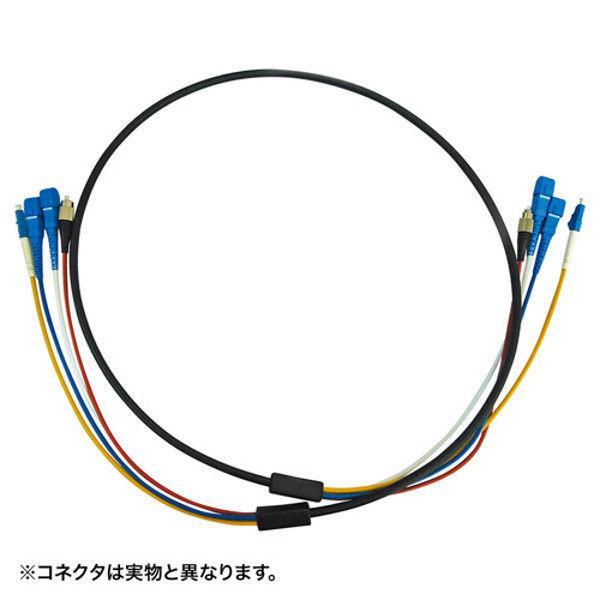 サンワサプライ 防水ロバスト光ファイバケーブル HKB-LCLCWPRB1-05 1個 (直送品)