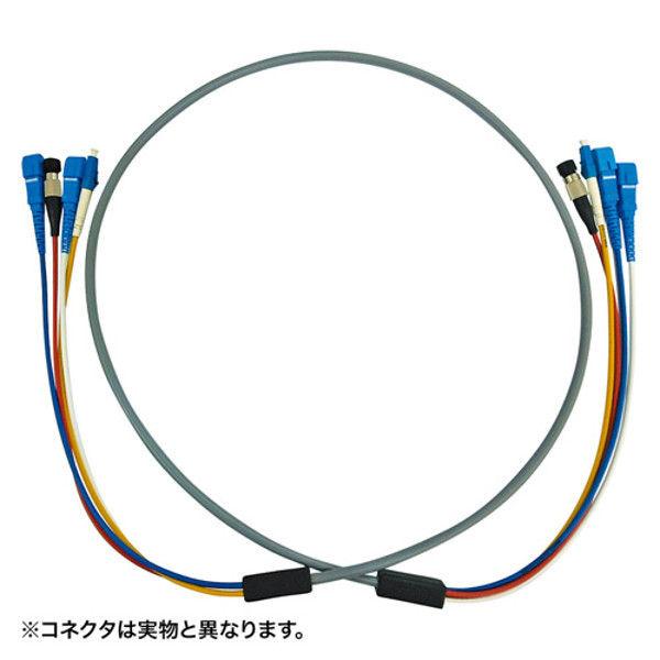 サンワサプライ 防水ロバスト光ファイバケーブル HKB-LCLCWPRB5-10 1個 (直送品)