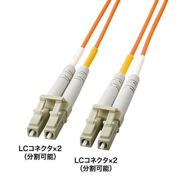 サンワサプライ 光ファイバケーブル3m HKB-LL5-03K (直送品)