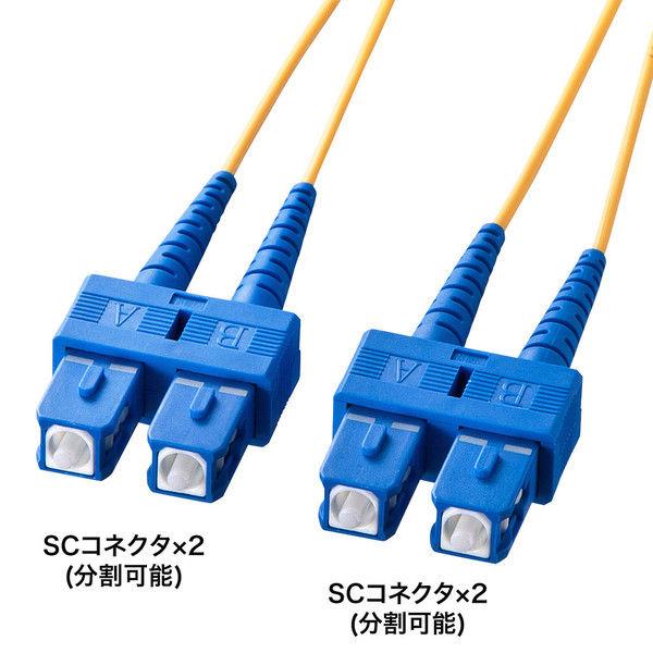 サンワサプライ 光ファイバケーブル HKB-SCSC1-30L 1個 (直送品)