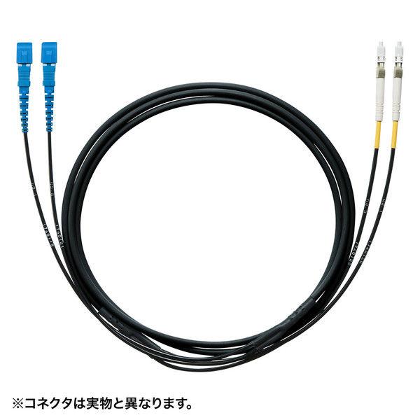 サンワサプライ タクティカル光ファイバケーブル HKB-SCSCTA1-10 1個 (直送品)