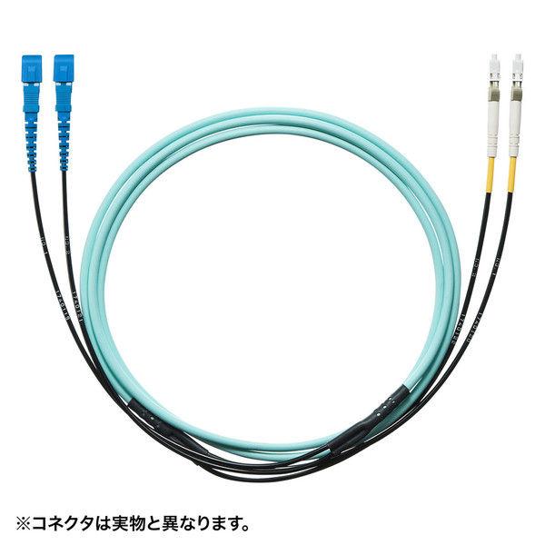 サンワサプライ タクティカル光ファイバケーブル HKB-SCSCTA5-10 1個 (直送品)