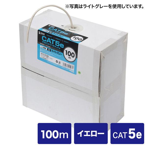 サンワサプライ カテゴリ5eUTP単線ケーブルのみ KB-T5-CB100YN 1個 (直送品)