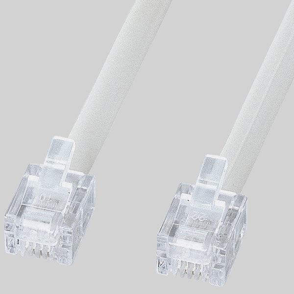 サンワサプライ エコロジー電話ケーブル(ノーマル) TEL-EN-15N2 1本 (直送品)