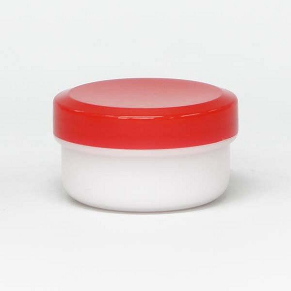 金鵄製作所 アルファ軟膏壺(増量型軟膏容器) 12mL 赤 A0020-002-400 1セット(400個:50個入×8袋) (直送品)