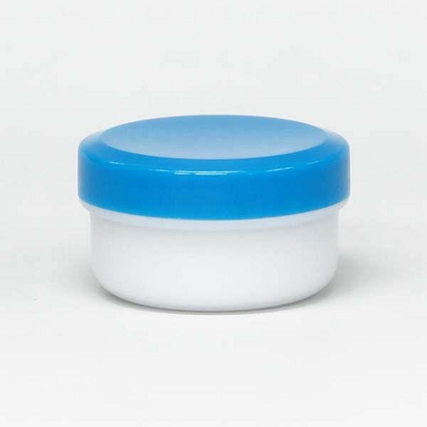 金鵄製作所 アルファ軟膏壺(増量型軟膏容器) 12mL 青 A0020-003-400 1セット(400個:50個入×8袋)(直送品)