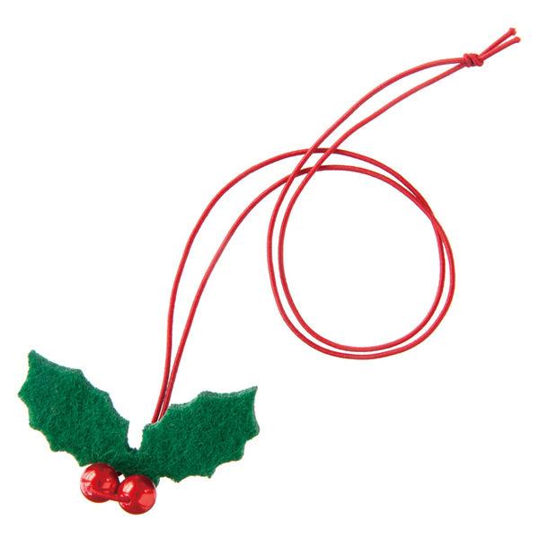ヘッズ ハンドメイドクリスマスゴムタッグ-4/パール付柊 HMX-TR4 1セット(100枚:20枚×5パック)(直送品)