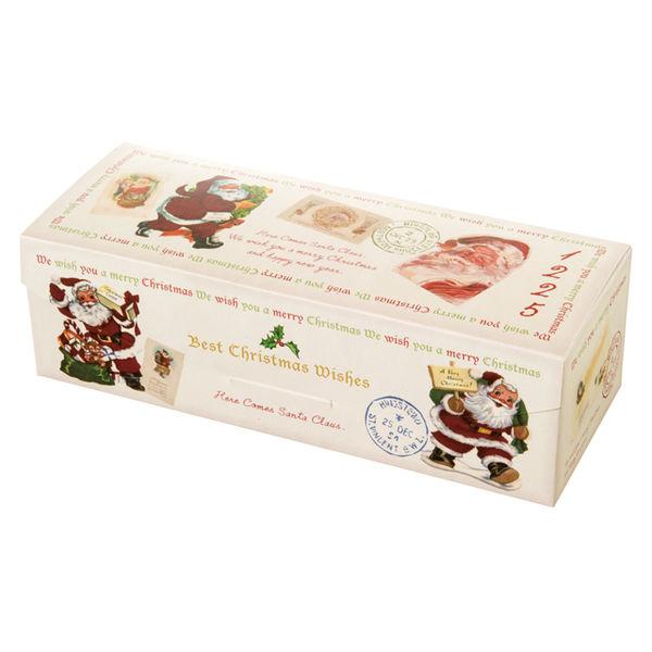 ヘッズ クリスマスアンティークサンタギフトBOXワイド型 XAQ-GW 1ケース(20枚×10パック:200枚)(直送品)