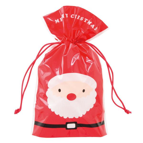 ヘッズ クリスマスハッピーサンタ&スノーマン巾着バッグ-4 XHS-4NS 1セット(100枚:20枚×5パック)(直送品)