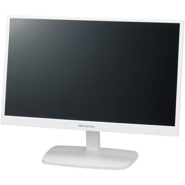 プリンストンテクノロジー 白色LEDバックライト搭載広視野角21.5型ワイド液晶カラーディスプレイ ホワイト PTFWDE-22W 1台  (直送品)