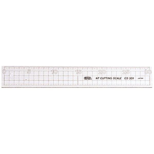 エヌティー カッティング定規・30cm・透明 CS-301 1セット(5個) (直送品)