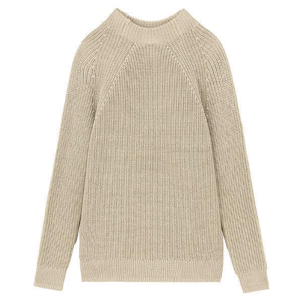 無印 畦編みモックネックセーター 婦人M