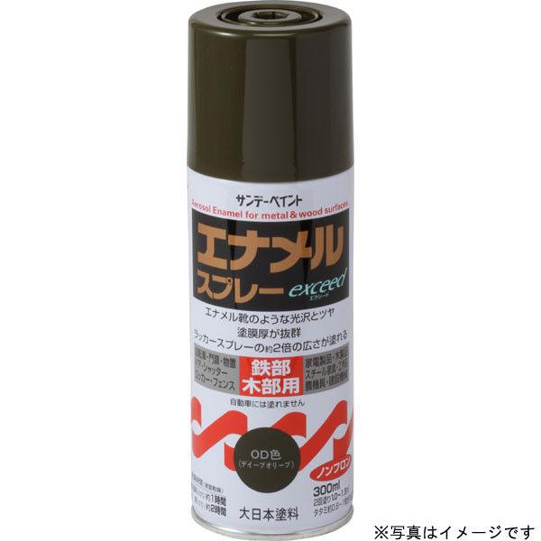 サンデーペイント エナメルスプレー exceed つや消し黒 300ml #27QG1 (直送品)