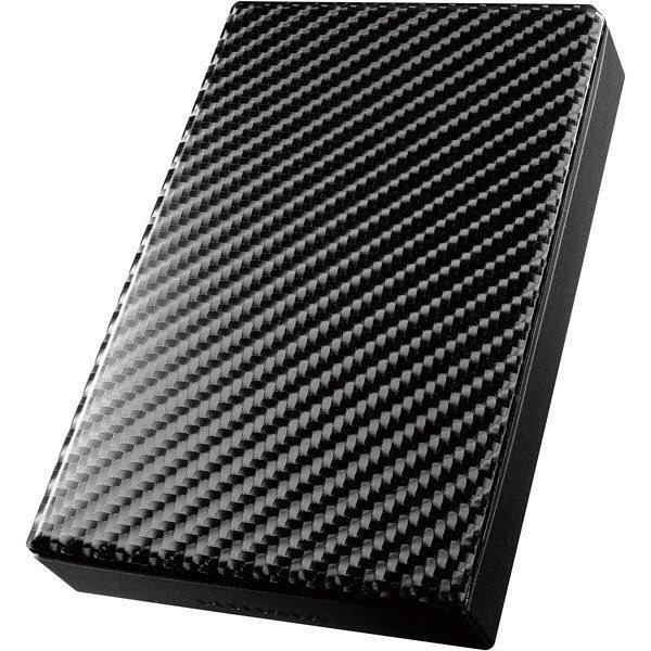 アイ・オー・データ機器 USB3.0/2.0対応ポータブルハードディスク「高速カクうす」 カーボンブラック 2TB HDPT-UT2DK 1台  (直送品)