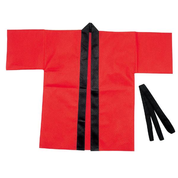 アーテック カラー不織布ハッピ 子供用 S 赤 1295 5枚 (直送品)