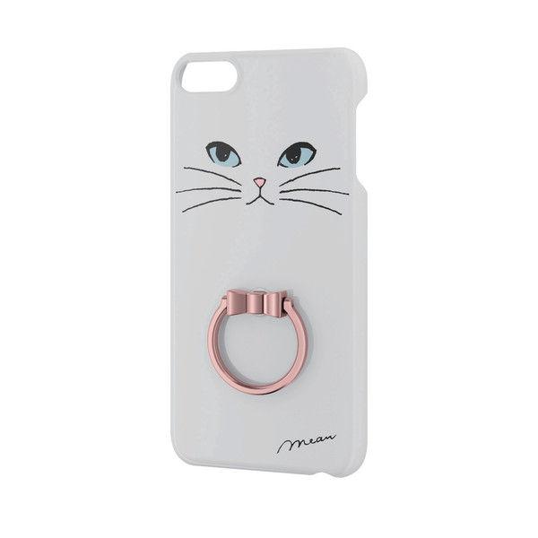 ELECOM iPod Touch/リング付シェルカバー/白ネコ AVA-T17PVRJWH 1個 (直送品)