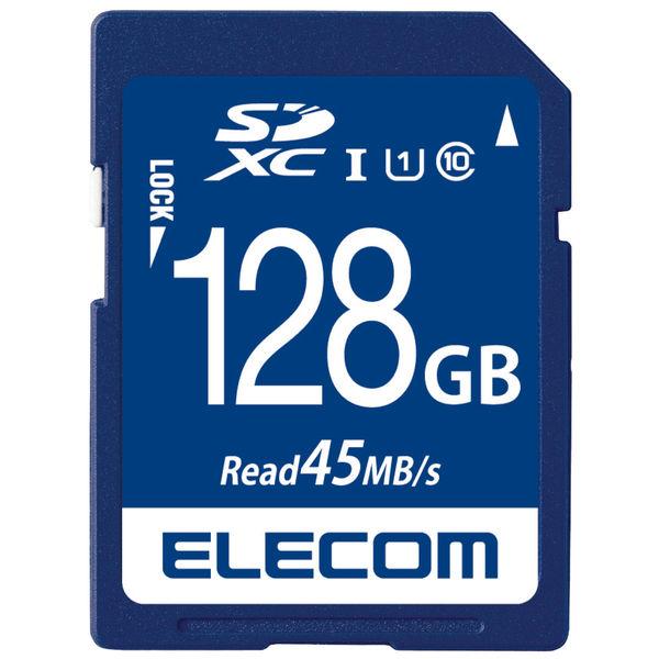 ELECOM SDXCカード/データ復旧サービス付/UHS-I U1 45MB/s 128GB MF-FS128GU11R 1個 (直送品)