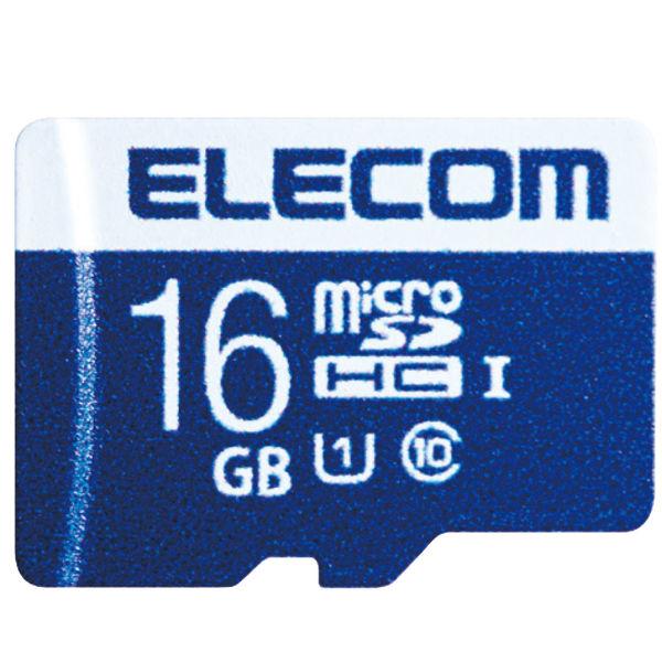 ELECOM MicroSDHCカード/データ復旧サービス付/UHS-I U1 45MB/s 16GB MF-MS016GU11R 1個 (直送品)