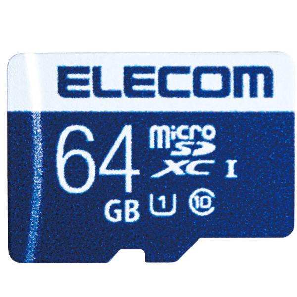 ELECOM MicroSDXCカード/データ復旧サービス付/UHS-I U1 45MB/s 64GB MF-MS064GU11R 1個 (直送品)