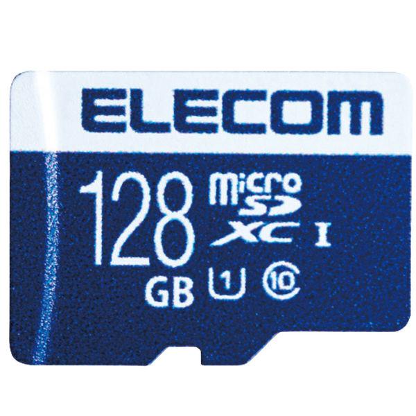 ELECOM MicroSDXCカード/データ復旧サービス付/UHS-I U1 45MB/s 128GB MF-MS128GU11R 1個(直送品)