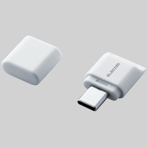 ELECOM メモリリーダライタ/Type-Cコネクタ/直挿しタイプ/microSD専用/ホワイト MR3C-C012WH 1個(直送品)