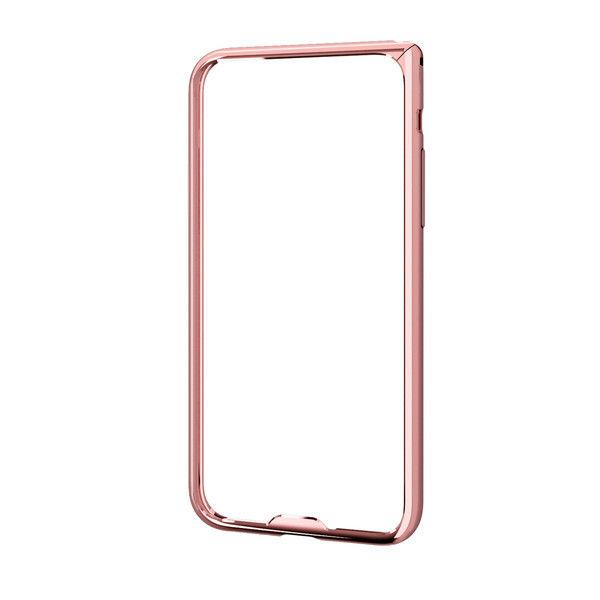 ELECOM iPhoneX/アルミバンパー/薄型/ピンク PM-A17XALBUPN 1個 (直送品)