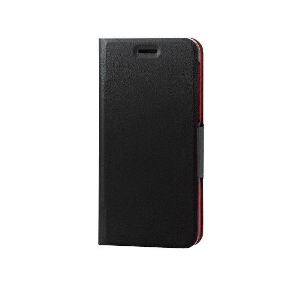 ELECOM android one S3/ソフトレザーカバー/薄型/磁石付/ブラック PM-AOS3PLFUBK 1個 (直送品)