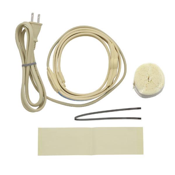 これカモ 凍結防止ヒーター 0.5m サーモスタットつき (給水管の凍結防止 金属管用) GA-KE009 (直送品)