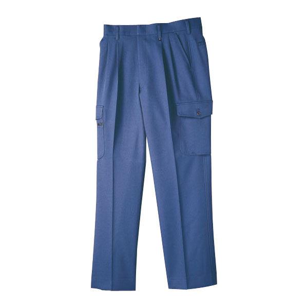 明石スクールユニフォームカンパニー メンズドライバースラックス ブルー 76 UN073-6-76 (直送品)