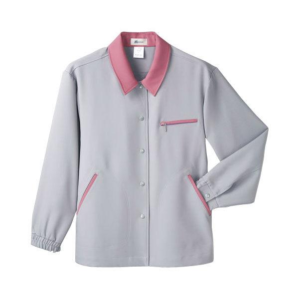 明石スクールユニフォームカンパニー レディースジャケット ラベンダーグレー 17 UN158-63-17 (直送品)