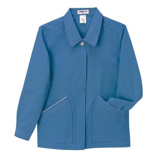 明石スクールユニフォームカンパニー レディースジャケット ブルーグレー 11 UN1822-61-11 (直送品)
