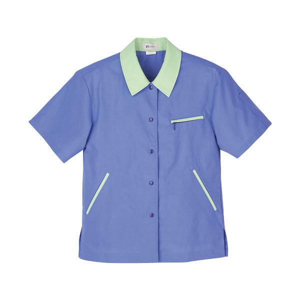 明石スクールユニフォームカンパニー レディース半袖ジャケット バイオレット×アースグリーン 15 UN1831-85-15 (直送品)