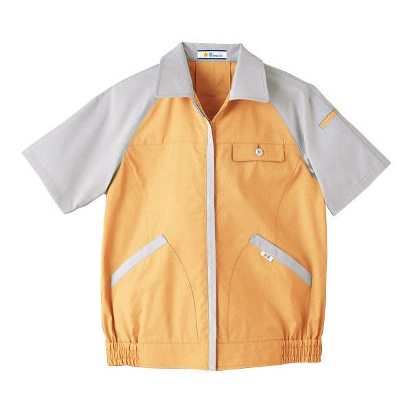 明石スクールユニフォームカンパニー レディース半袖ブルゾン オレンジ 19 UN1923-83-19 (直送品)