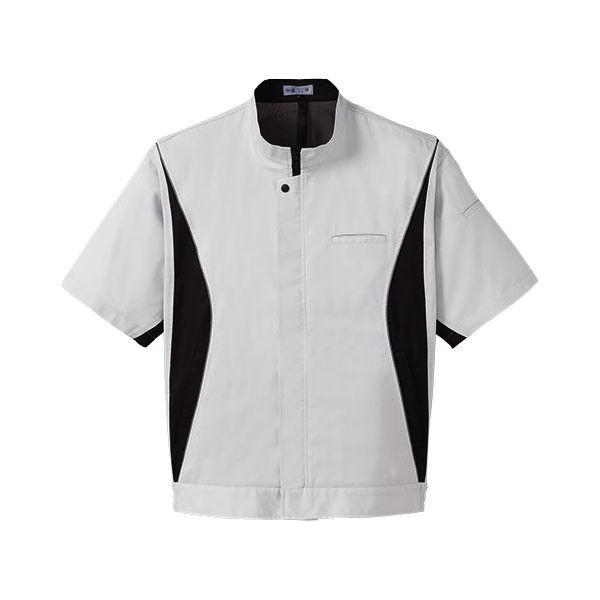 明石スクールユニフォームカンパニー 男女兼用半袖ブルゾン シルバーグレー L UN3373-4-L (直送品)