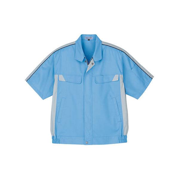 明石スクールユニフォームカンパニー 男女兼用半袖ブルゾン サックス L UN3393-62-L (直送品)