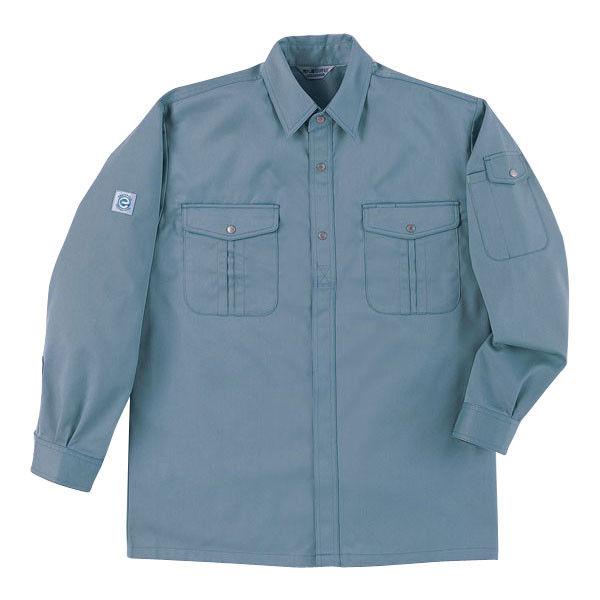 明石スクールユニフォームカンパニー 男女兼用シャツ ミストブルー 4L UN416-65-4L (直送品)