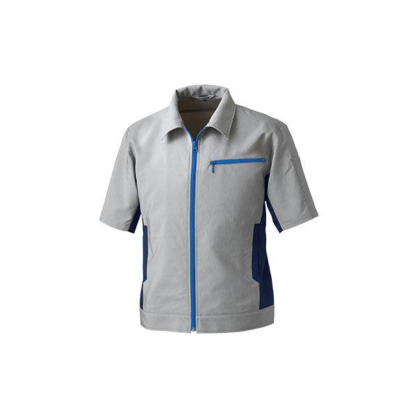 明石スクールユニフォームカンパニー 男女兼用半袖ブルゾン グレー M UN5503-4-M (直送品)