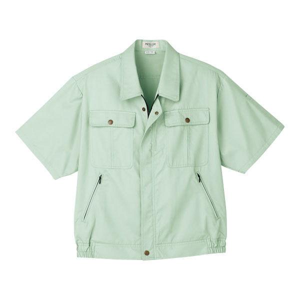 明石スクールユニフォームカンパニー 男女兼用半袖ブルゾン アースグリーン 5L UN590-15-5L (直送品)