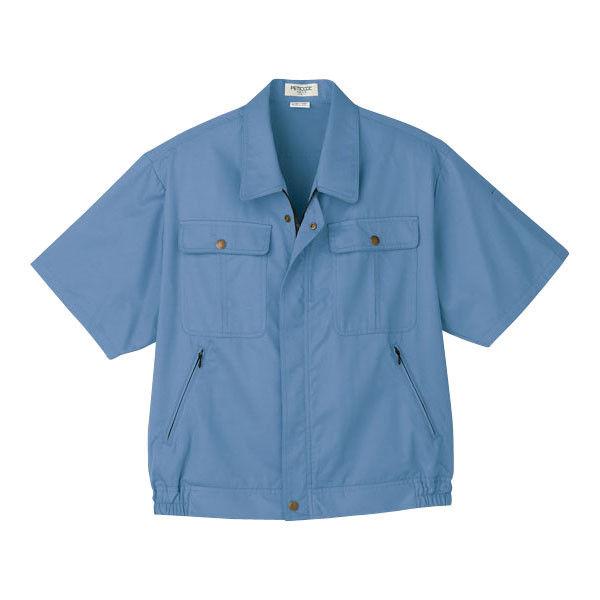 明石スクールユニフォームカンパニー 男女兼用半袖ブルゾン ブルーグレー 4L UN590-61-4L (直送品)