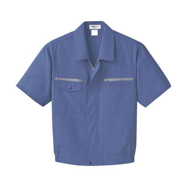 明石スクールユニフォームカンパニー メンズ半袖ブルゾン ブルー L UN623-6-L (直送品)