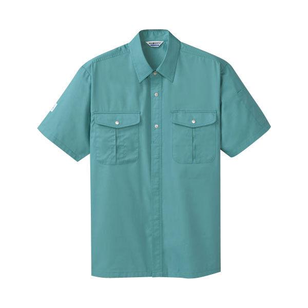 明石スクールユニフォームカンパニー メンズ半袖シャツ レイクブルー 4L UN687-68-4L (直送品)