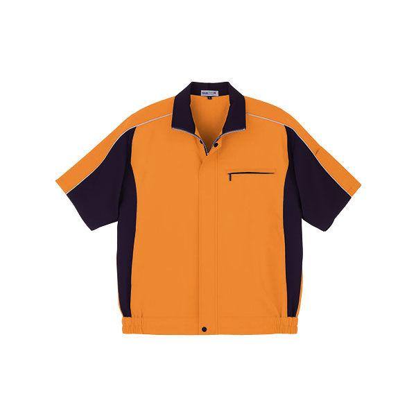 明石スクールユニフォームカンパニー 男女兼用半袖ブルゾン オレンジ 5L UN795-83-5L (直送品)