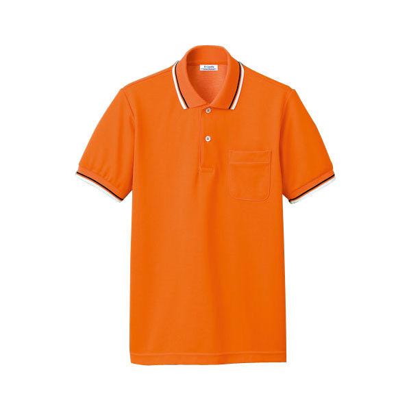 明石スクールユニフォームカンパニー 男女兼用ポロシャツ オレンジ EL UZQ707-10-EL (直送品)