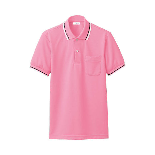 明石スクールユニフォームカンパニー 男女兼用ポロシャツ ピンク LL UZQ707-14-LL (直送品)