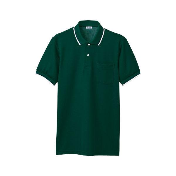 明石スクールユニフォームカンパニー 男女兼用ポロシャツ グリーン EL UZQ707-6-EL (直送品)