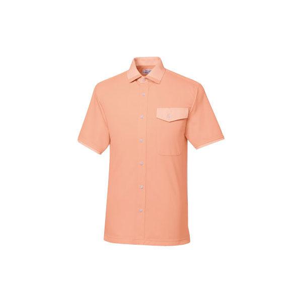 明石スクールユニフォームカンパニー シャツ(男女兼用) オレンジ 4L UZQ728-10-4L (直送品)