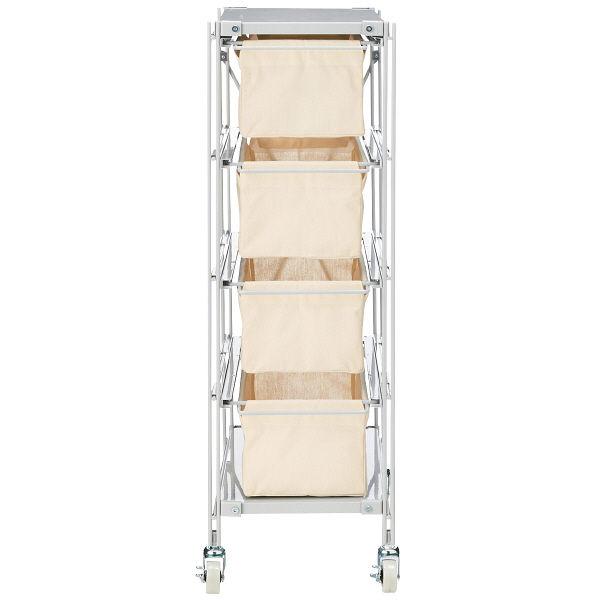 無印良品 スチールユニットシェルフ帆布バスケットセット・スチール棚板・幅28cmタイプ