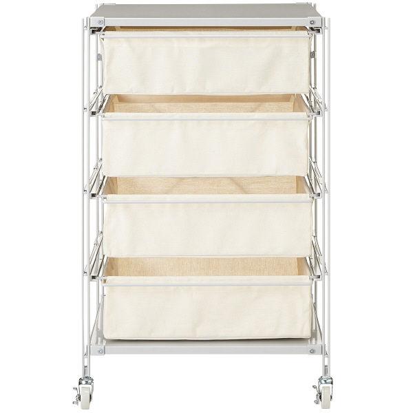 無印良品 スチールユニットシェルフ帆布バスケットセット・スチール棚板・幅56cmタイプ